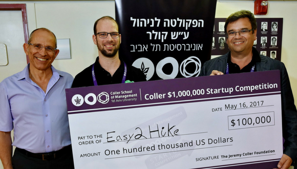 The Annual Coller $100,000 Startup Competition at Tel Aviv University's Coller School of Management Sets Out