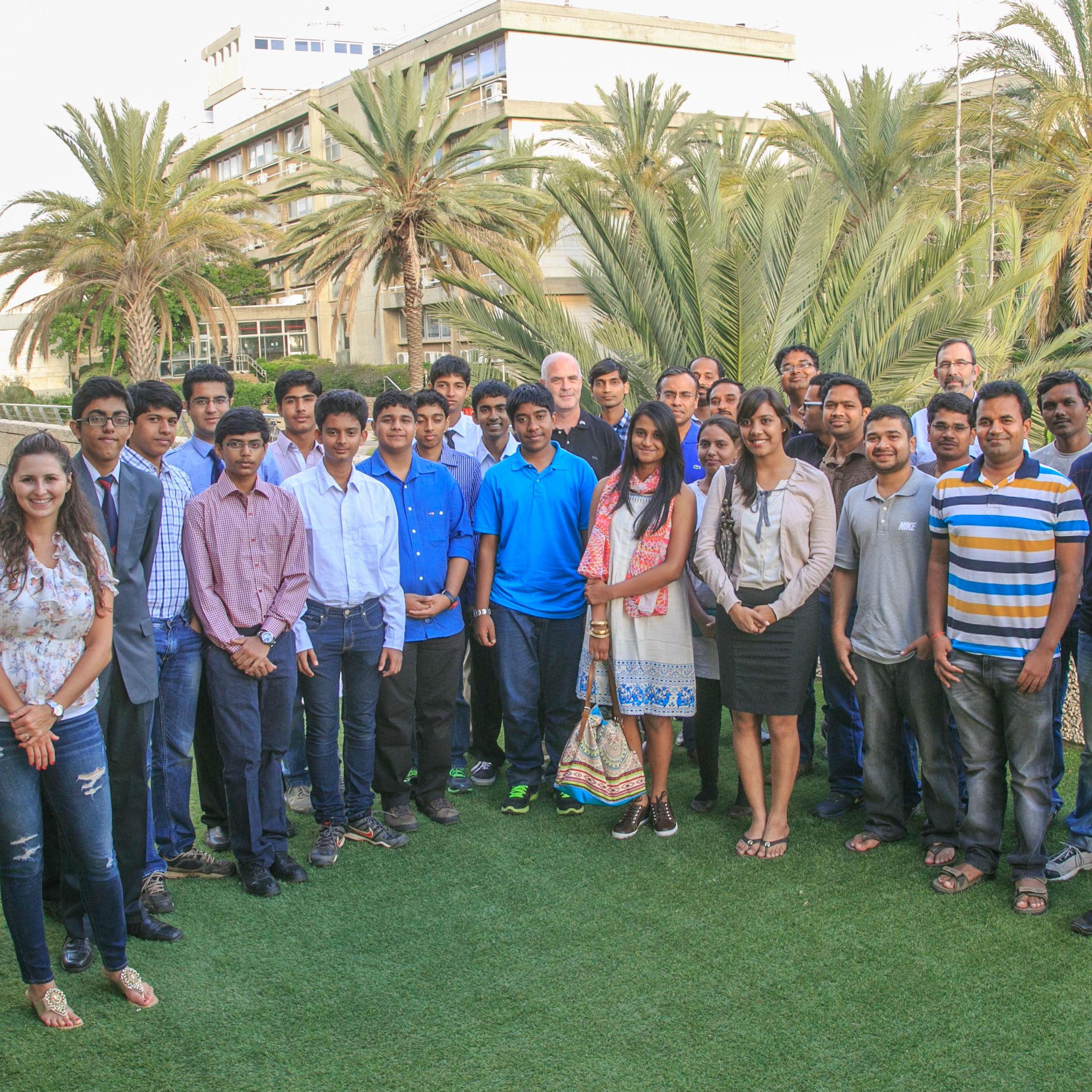 שגרירים במזרח: התכנית ללימודי הנדסת חשמל מארחת תלמידים מצטיינים מהודו