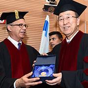 """מזכ""""ל האום באן קי-מון ביקר באוניברסיטת תל אביב"""