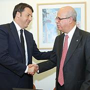 ראש ממשלת איטליה פתח את ביקורו בארץ במפגש על חדשנות ויזמות באוניברסיטת תל-אביב