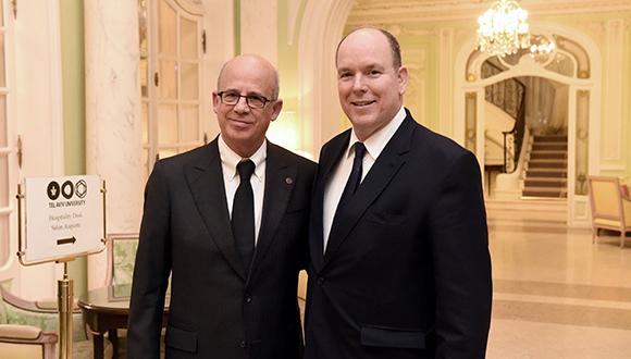 Albert II, Prince of Monaco with Prof. Joseph Klafter, President of TAU