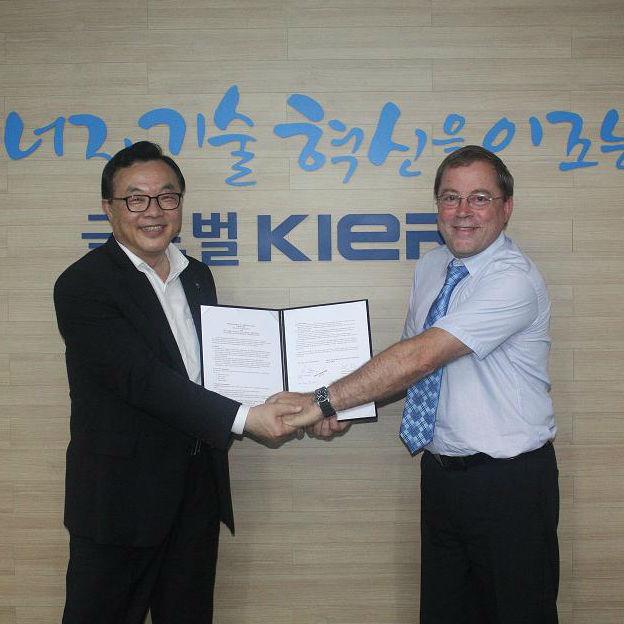נחתם הסכם לשיתוף פעולה עם הארגון לאנרגיה מתחדשת של דרום קוריאה