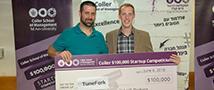 שופטי תחרות הסטארט-אפים השנתית של הפקולטה לניהול הפתיעו והעניקו לשני מיזמים את הפרס הראשון