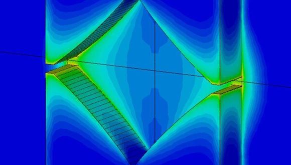 פילוג השדה החשמלי בננו-אנטנה