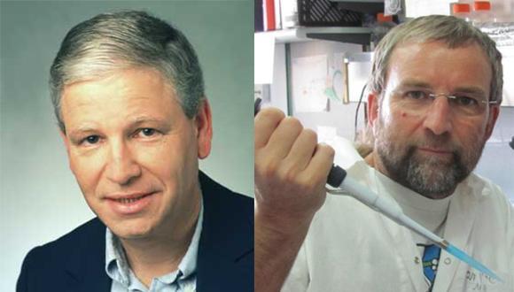 פרופ' מרטין קופייק (מימין) ופרופ' מנחם מאוטנר