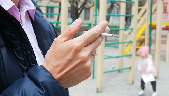 ילדים תחת מסך עשן