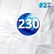 מקום שני בישראל, מקום 230 בעולם במדד QS 2020