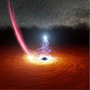מה הפריע לסעודה של חור שחור ענק?