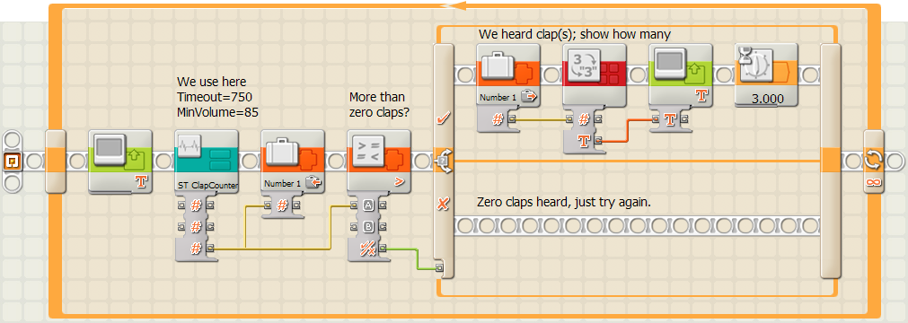 A Clap Counter (Lego Mindstorms NXT)